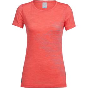 Icebreaker Sphere Fracture t-shirt Dames rood